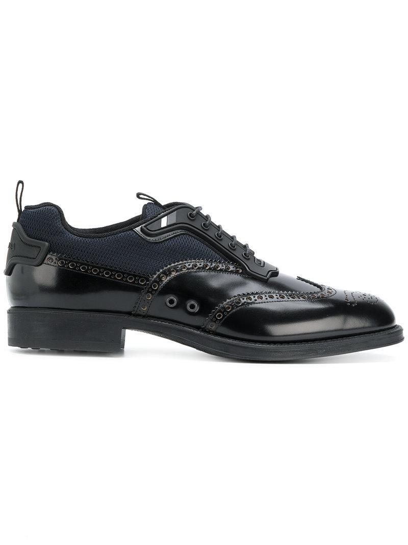 Oxford shoe sneakers - Black Prada KXRtNROWF