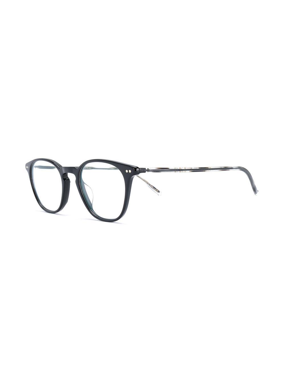78e8976170 Oliver Peoples - Black Hanks Round Frame Sunglasses - Lyst. View fullscreen