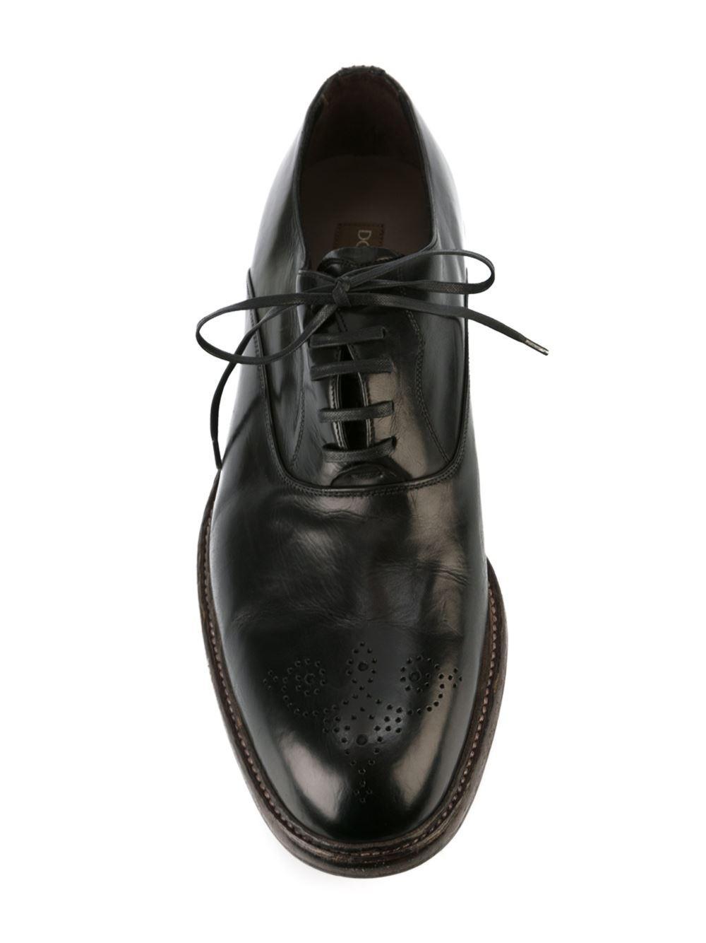 brogue detail Oxford shoes - Black Dolce & Gabbana KLpsk