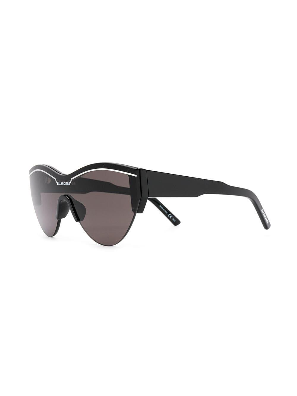 b30c96fd908 Balenciaga - Black Oversized Logo Sunglasses - Lyst. View fullscreen
