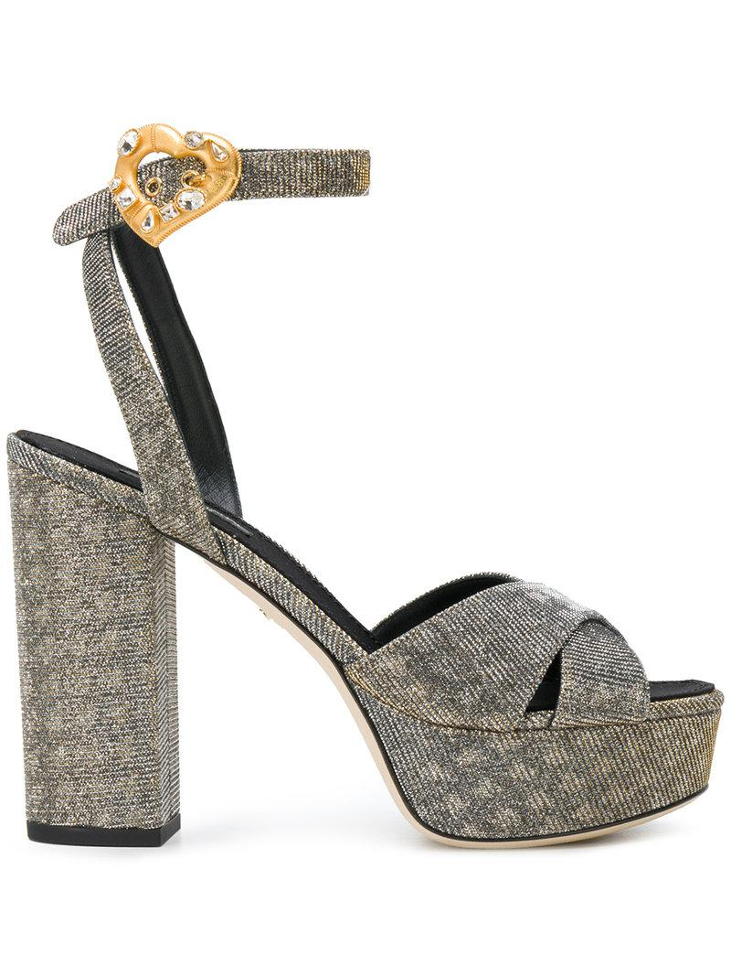 platform ankle strap sandals - Metallic Dolce & Gabbana s6g8kHY
