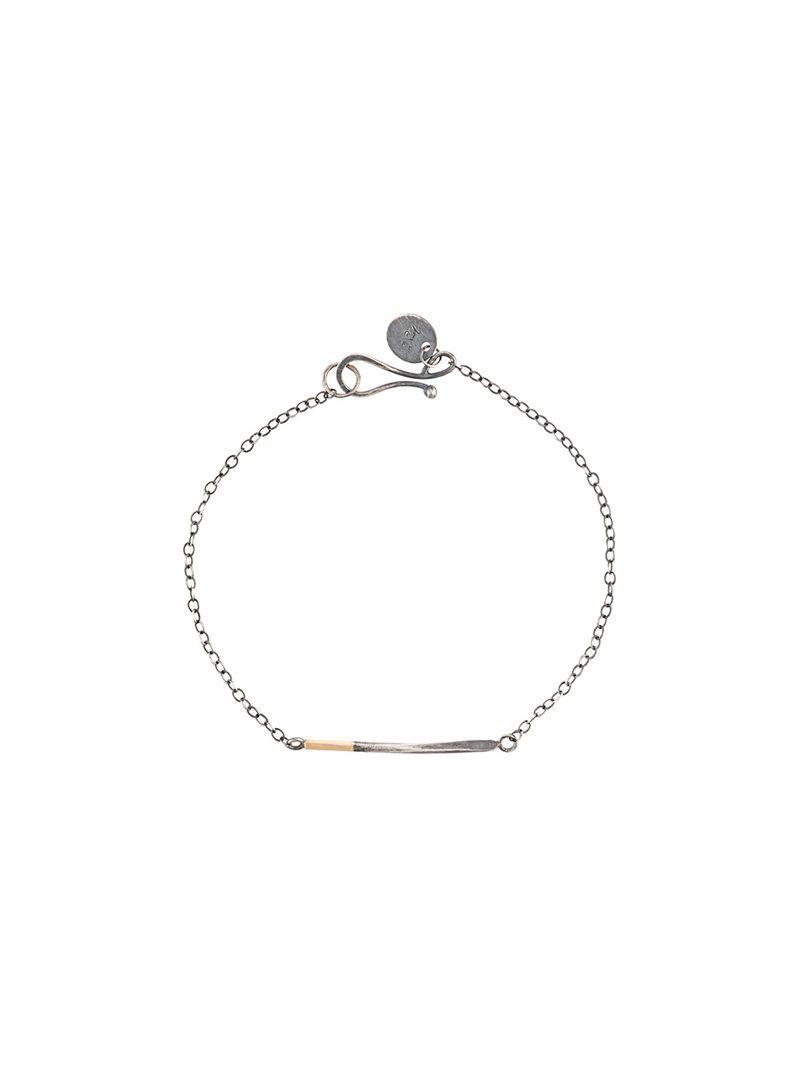 14kt peg awl chain bracelet - Grey Melissa Joy Manning zkjy6zr4bO