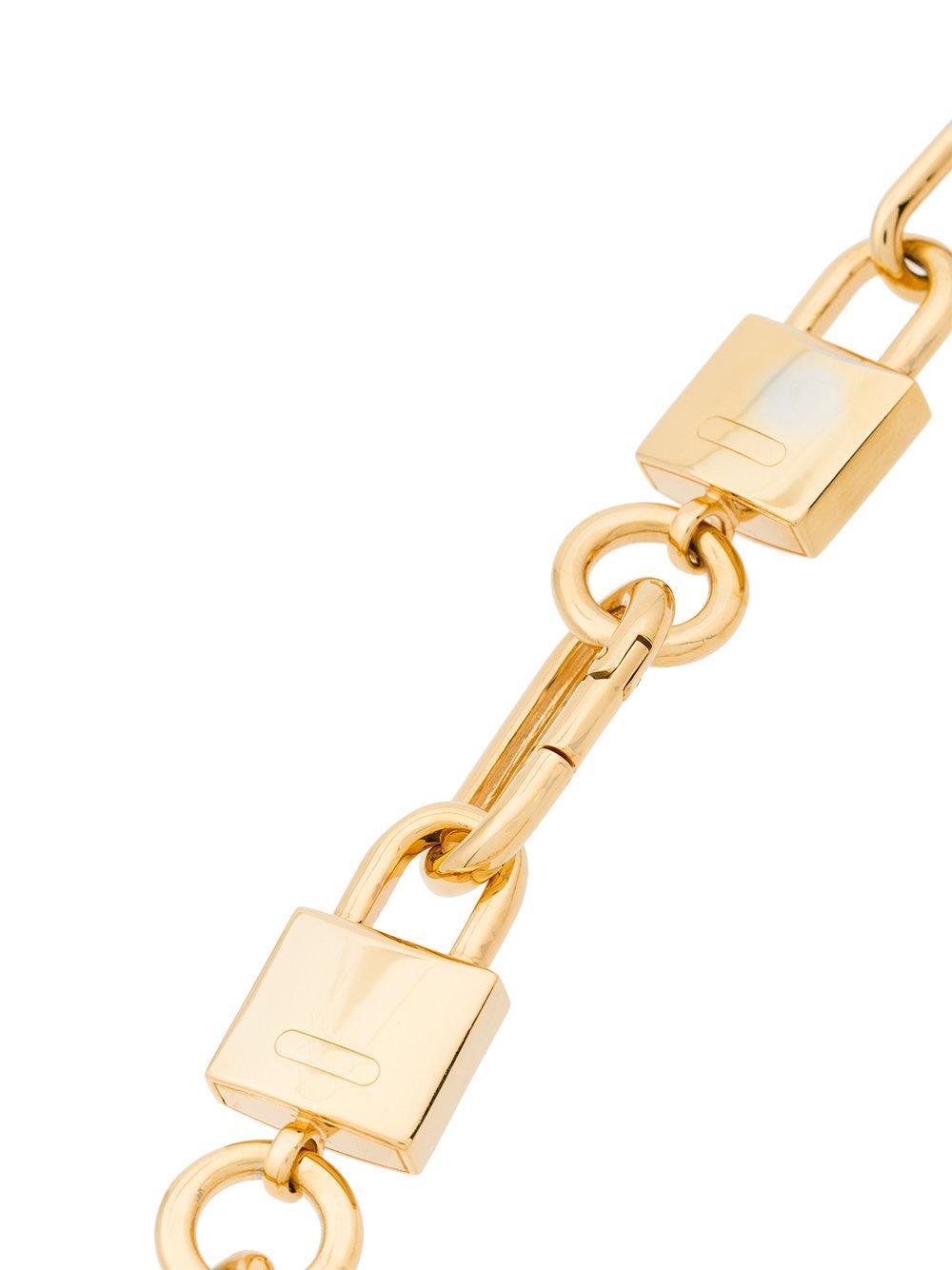 AMBUSH Gold padlock link necklace - Metallic nUcHMD