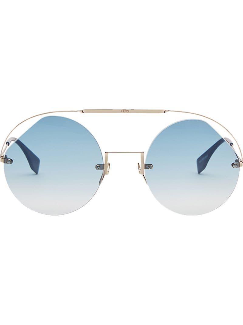 7cbb0f7f2c Lyst - Fendi Ribbons   Crystals Sunglasses in Metallic - Save 1%