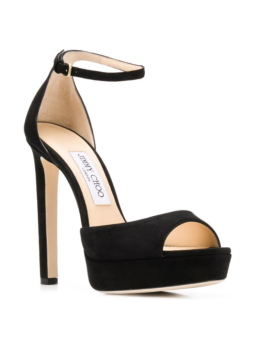 1a3f0b45366 Lyst - Jimmy Choo Pattie 130 Sandals in Black