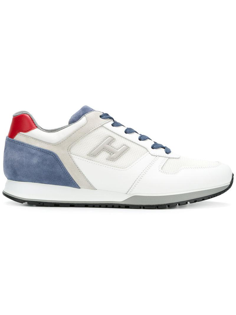 colour block logo sneakers - White Hogan