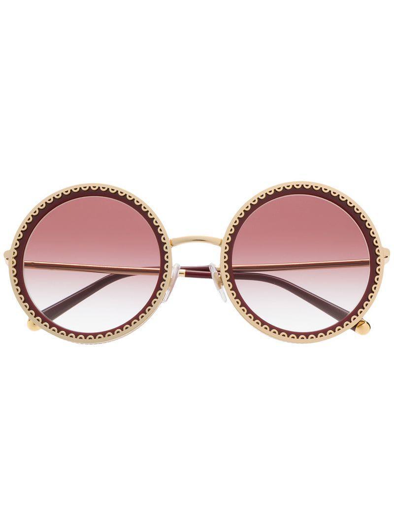 84e262a66ae Lyst - Dolce   Gabbana Cuore Sacro Sunglasses in Red
