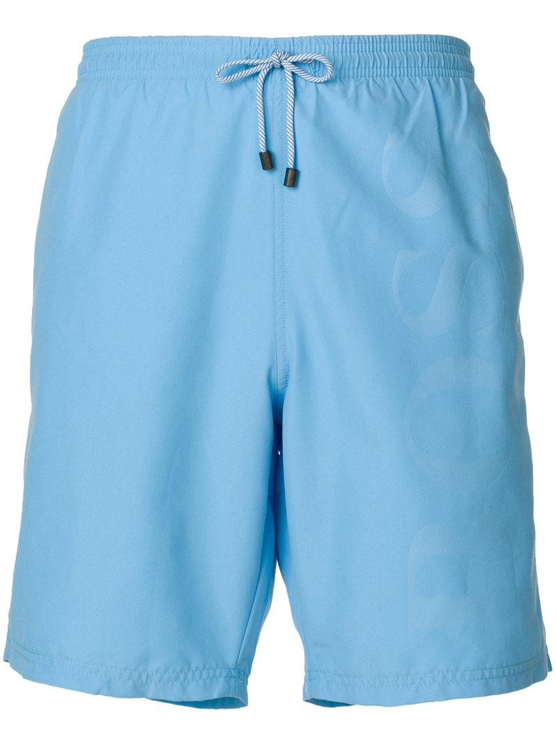 Sale Very Cheap brand embossed swimming trunks - Blue HUGO BOSS Find Great For Sale Outlet Clearance Store Prices Cheap Online RcSruMUhr