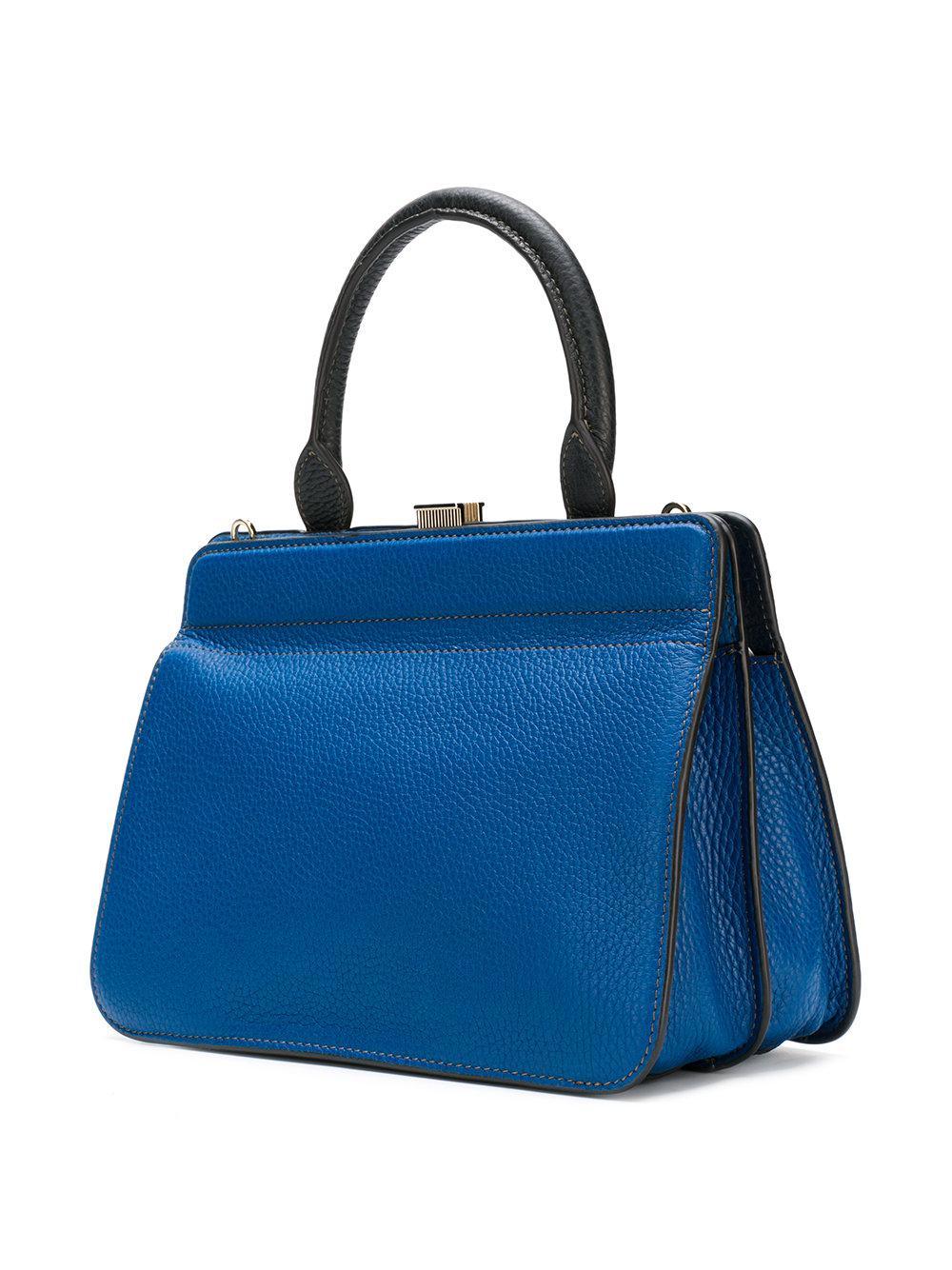 En Mirage Furla Lyst Cabas Sac Bleu Coloris nAqFZpF