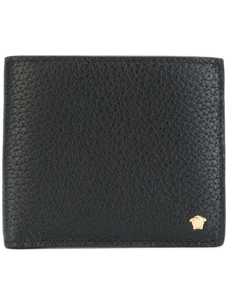 fd61b8e275 Lyst - Versace Medusa Logo Wallet in Black for Men - Save 15%