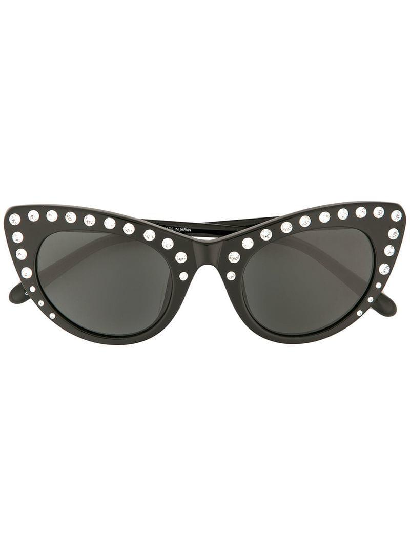 a98d87fe8cd N°21 X Linda Farrow Cat-eye Sunglasses in Black - Lyst