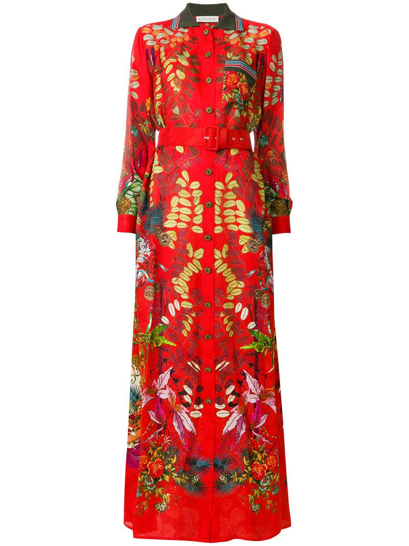floral belted dress - Red Etro rmmG9i