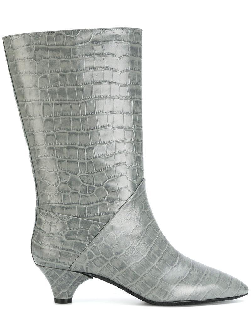 Marni Croc Bottes En Relief - Gris iSuE7OBHvg