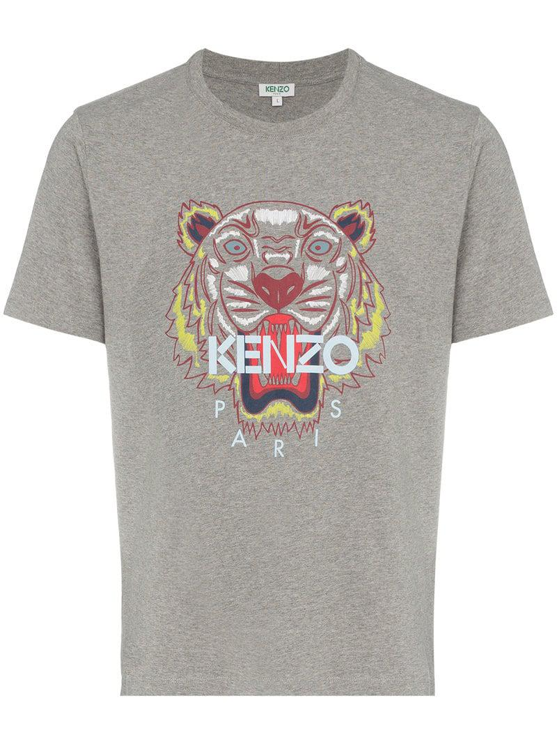 246891e3 KENZO - Gray Tiger Print T-shirt for Men - Lyst. View fullscreen