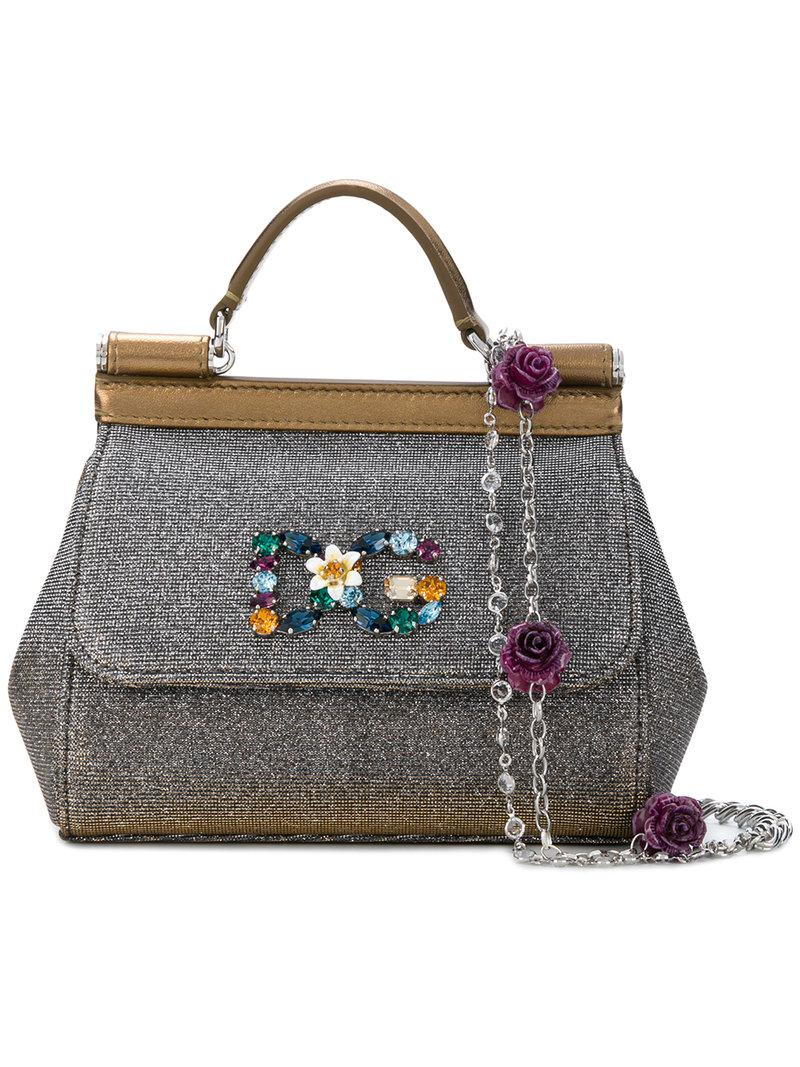 f91acc9e161 Lyst - Dolce   Gabbana Mini Sicily Shoulder Bag in Metallic