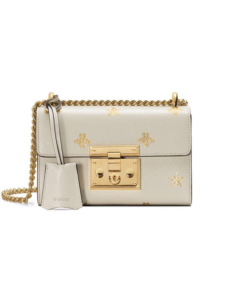 48e728014b8 Lyst - Gucci Small Shoulder Bag in White