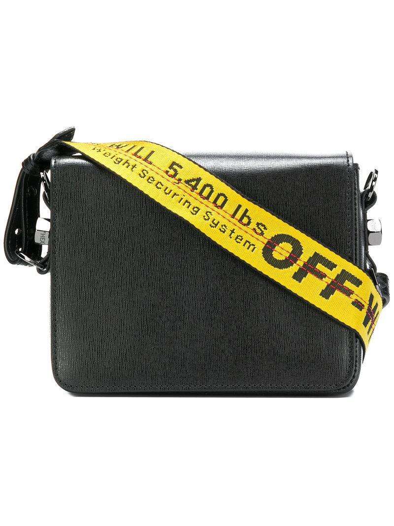1ff834efdf8c Off-White C O Virgil Abloh Binder Clip Bag in Black - Lyst