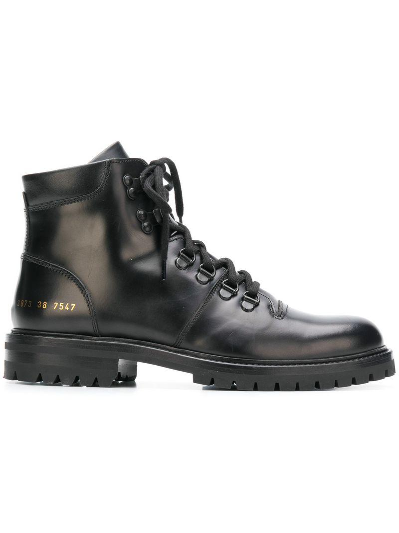 75193ca228706 Common Projects Lace-up Hiking Boots in Black - Lyst