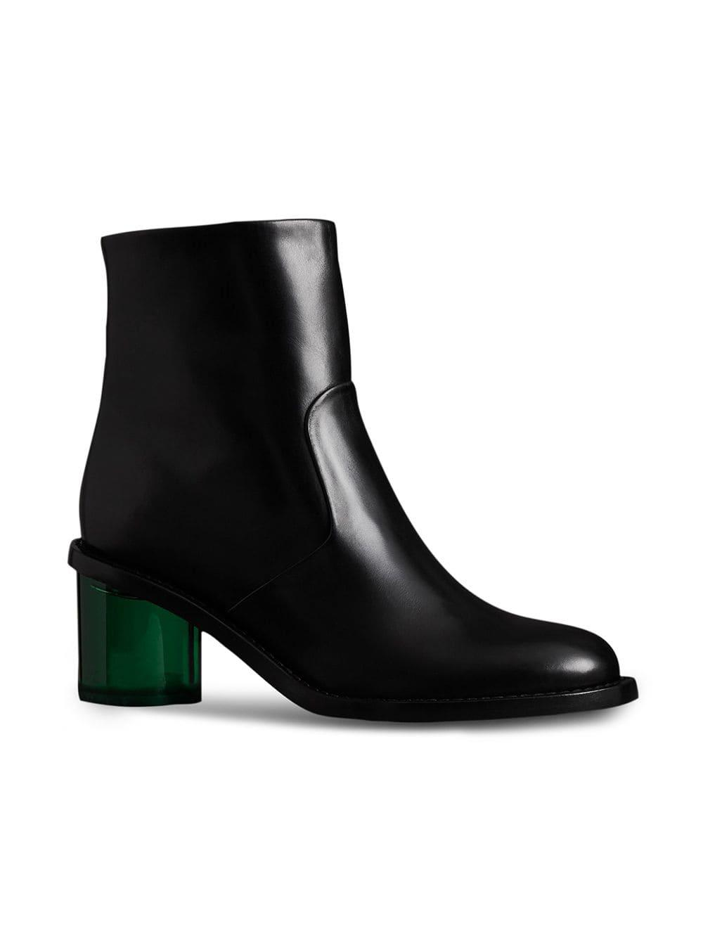 723bf1b2bec1 Burberry Two-tone Leather Block-heel Boots in Black - Lyst