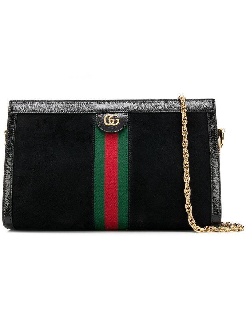 Gucci Ophidia Shoulder Bag in Black - Lyst a09ebd2dd2b50