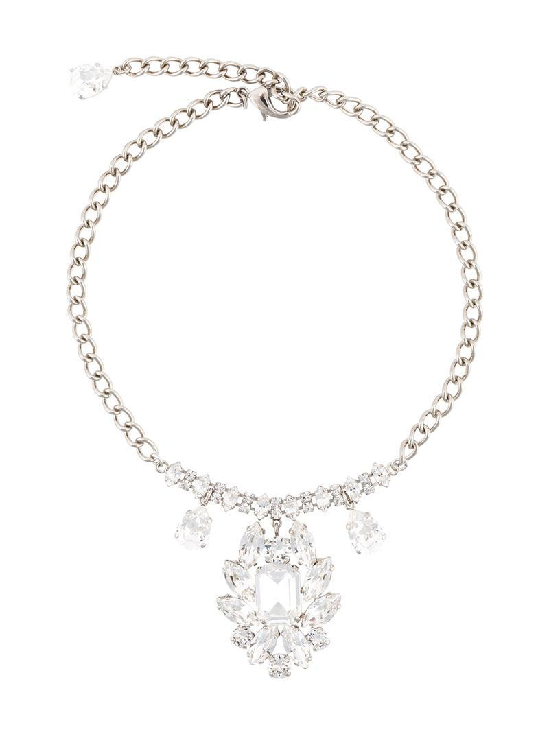 Dolce & Gabbana crystal rose necklace - Metallic yfHFP