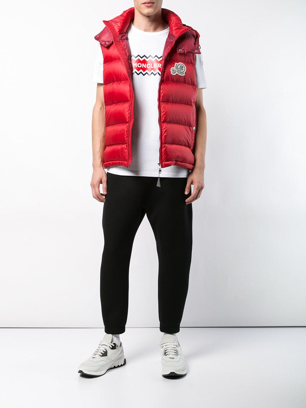 e8d6c722fa58 Lyst - Moncler Padded Gilet in Red for Men