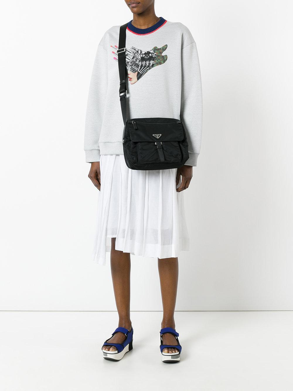 4e0abb796f Prada - Logo Plaque Cross Body Bag - Women - Nylon - One Size in Black -  Lyst