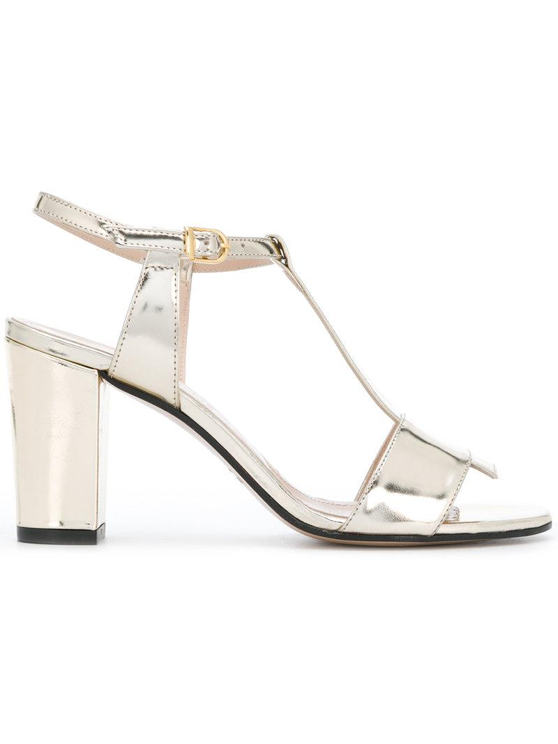t-bar strap sandals - Metallic Marc Ellis bJ46w