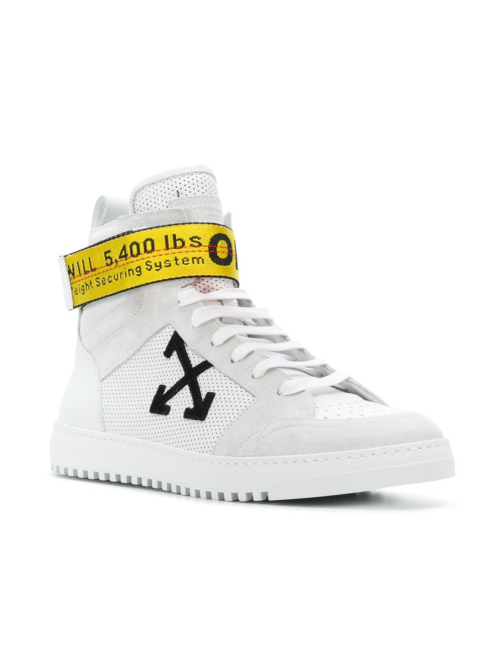 separation shoes 192a0 4504d Off-White c o Virgil Abloh Industrial Tape High Top Sneakers in ...