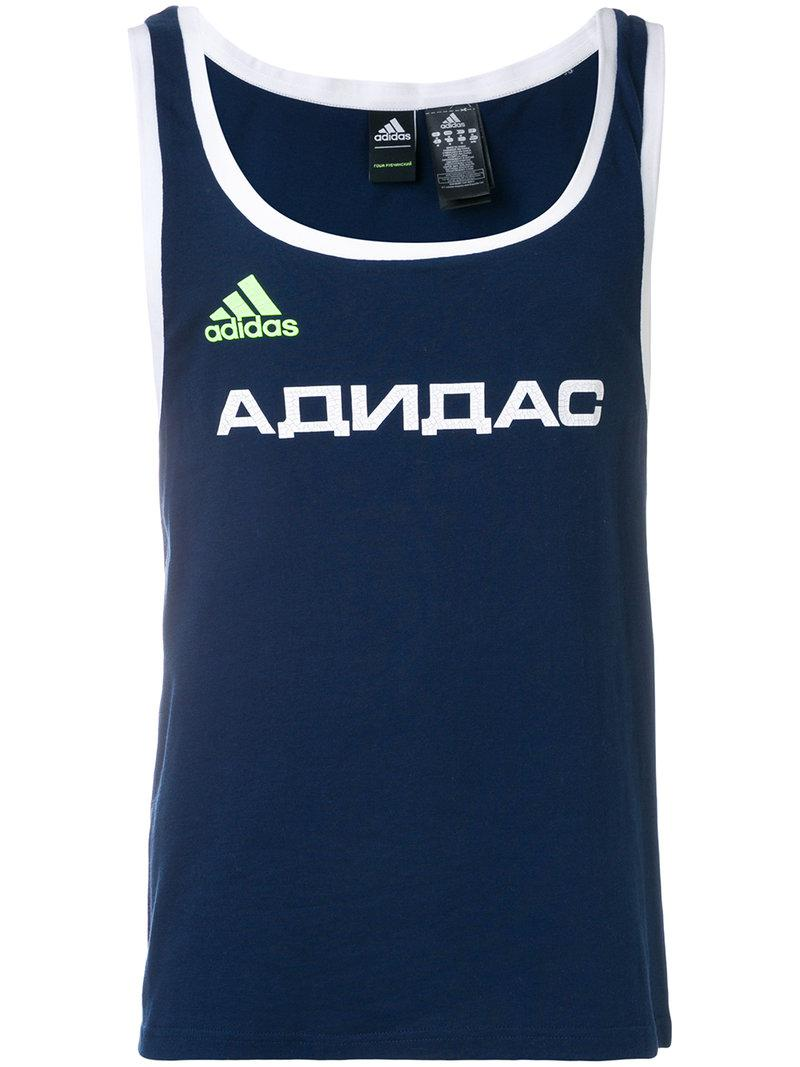 Sale Best Place logo print vest top - Black adidas Free Shipping Official Site i62DQige