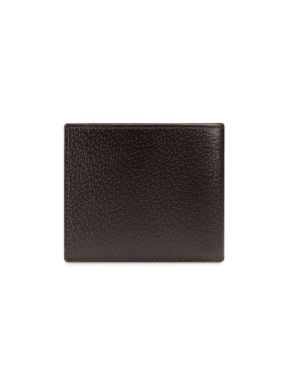 db1b8a121a41a Gucci GG Marmont Leather Bi-fold Wallet in Brown for Men - Lyst
