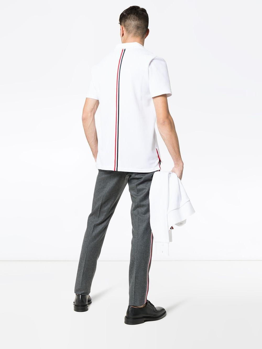 98a649d4875 Thom Browne Polo Shirt in White for Men - Lyst