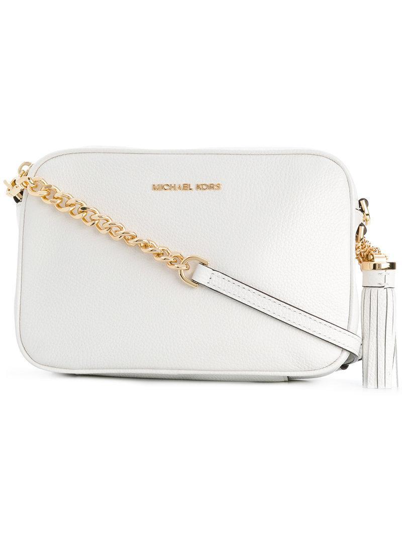 304e02d8df042 Lyst - MICHAEL Michael Kors Ginny Crossbody Bag in White