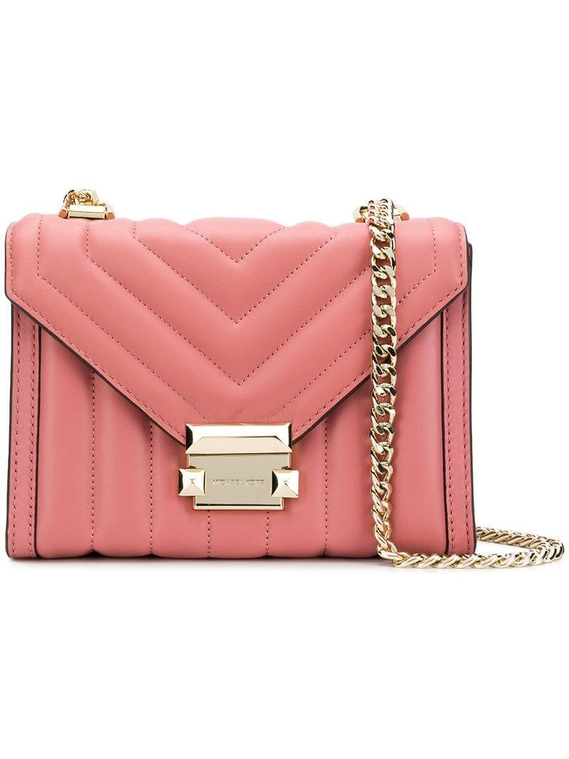 a514dc2a0c11c6 MICHAEL Michael Kors Whitney Shoulder Bag in Pink - Lyst