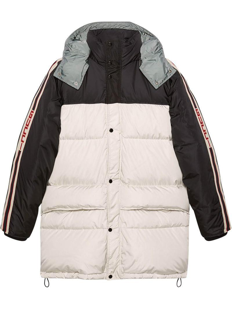 075896a35976 Lyst - Gucci Nylon Coat With Stripe in White for Men