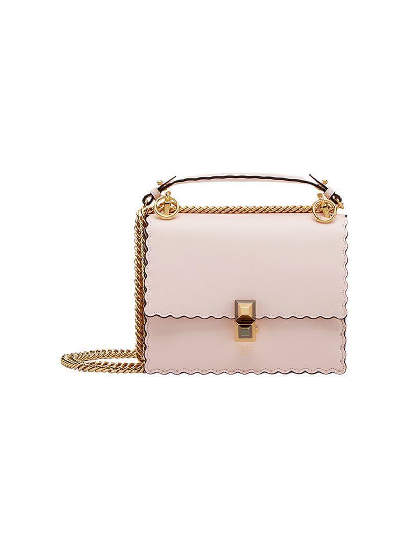 175aad0b934a Fendi Kan I Small Shoulder Bag in Pink - Lyst