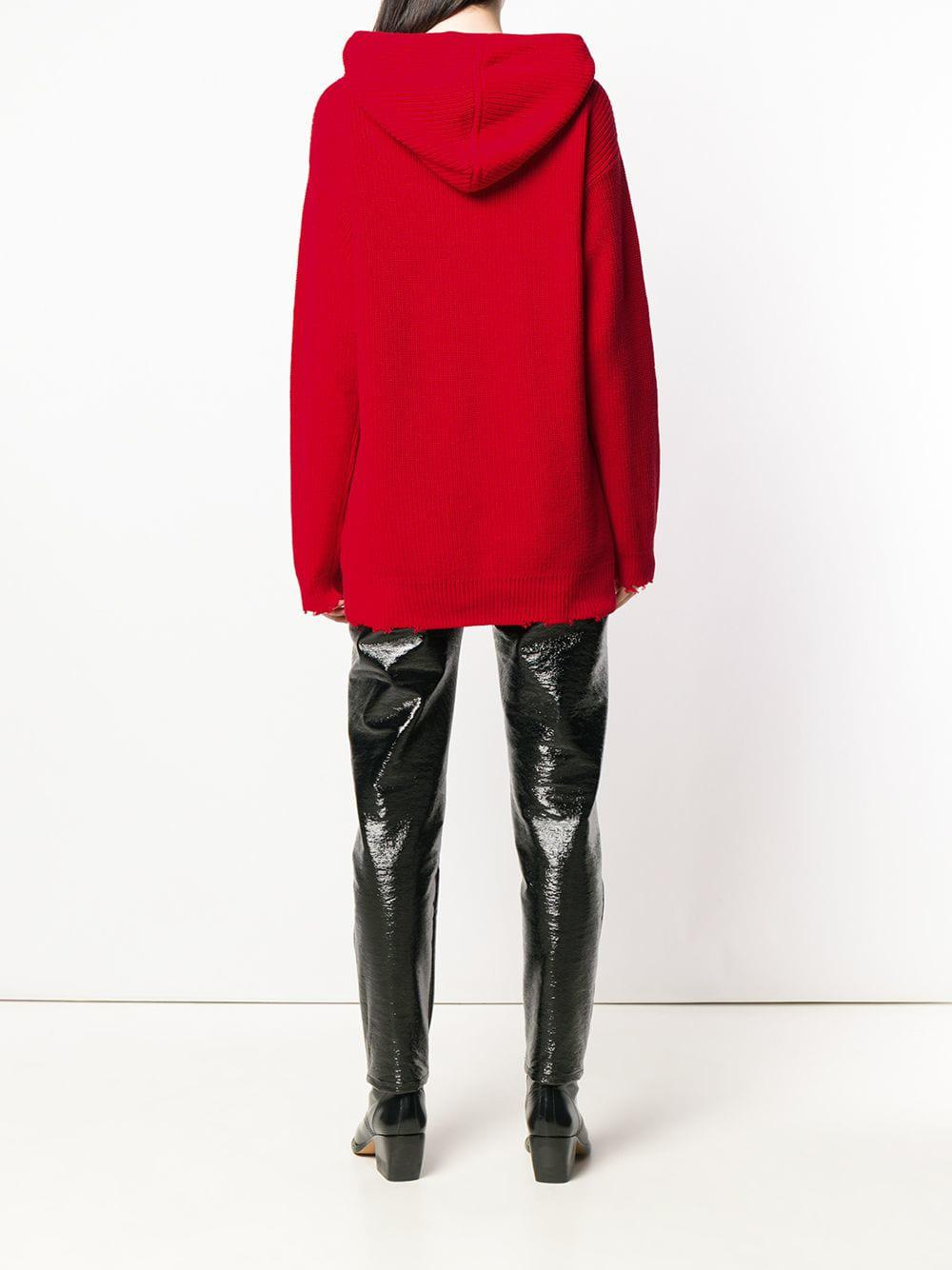 5222a655509690 Lyst - Rta Knitted Hoodie in Red