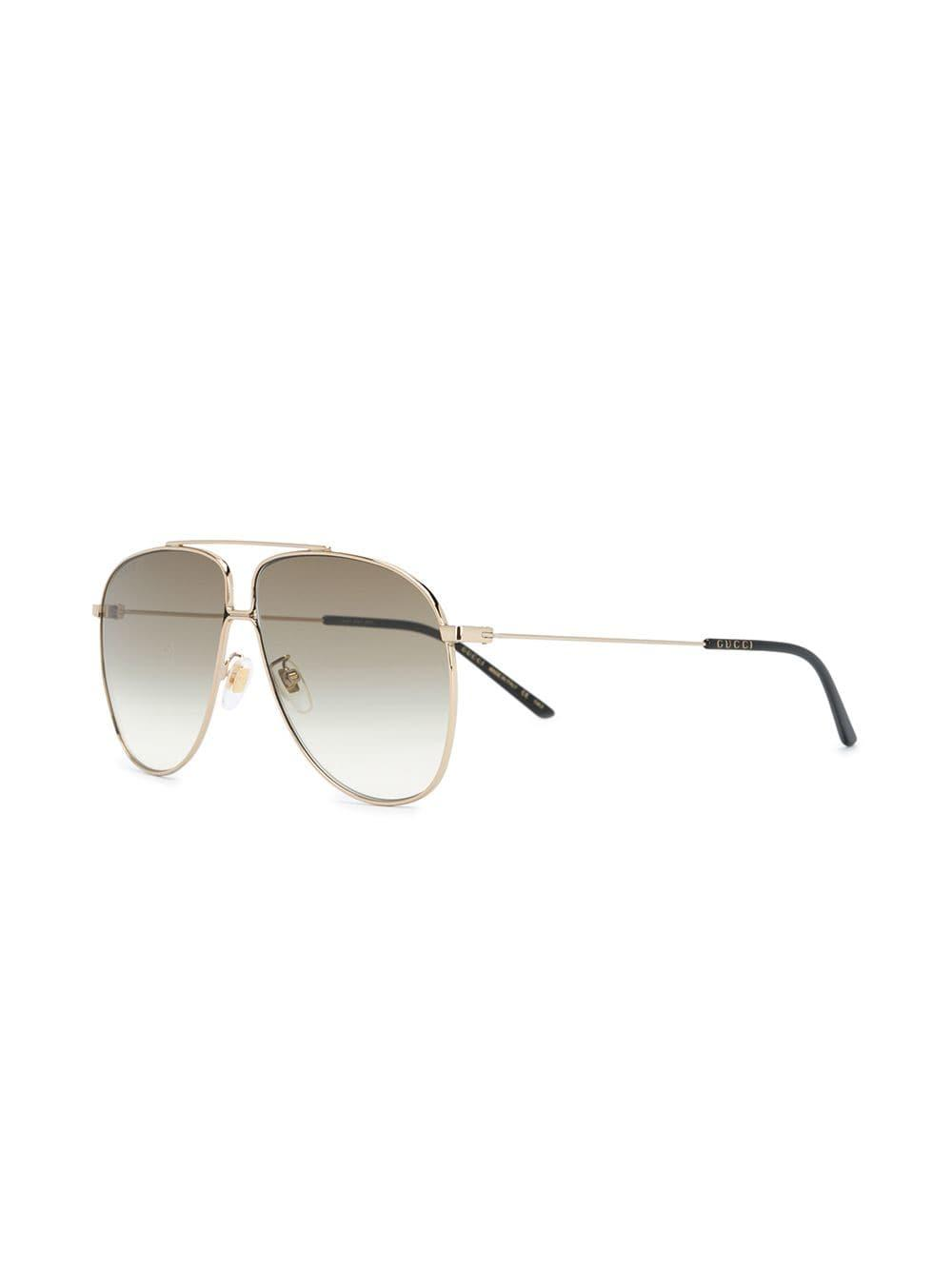 d42d3b8f796 Lyst - Gucci Aviator Sunglasses in Black for Men