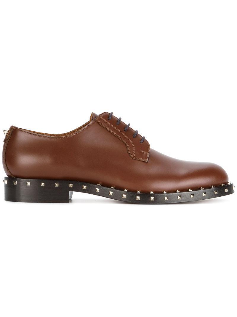 Valentino Garavani Soul Rockstud lace-up shoes - Brown Valentino vGT9T0