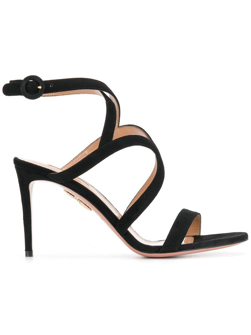 Hill sandals - Black Aquazzura cP1Ud