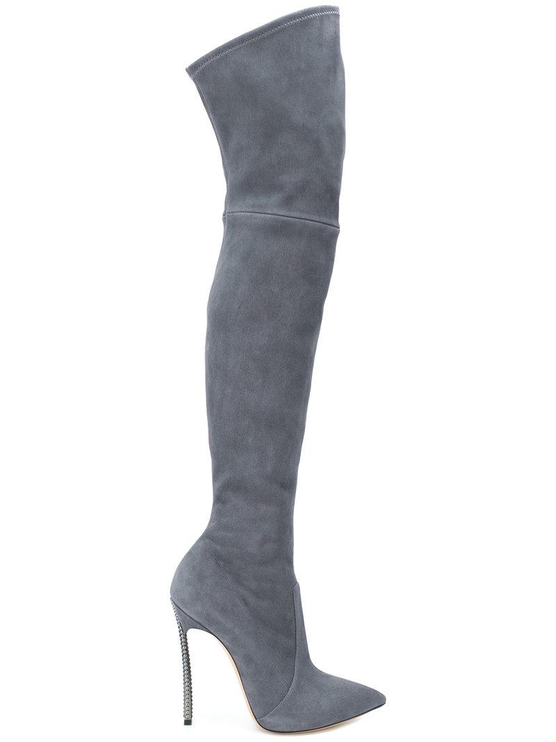 7eb89986c1 Casadei Blade Boots in Gray - Lyst