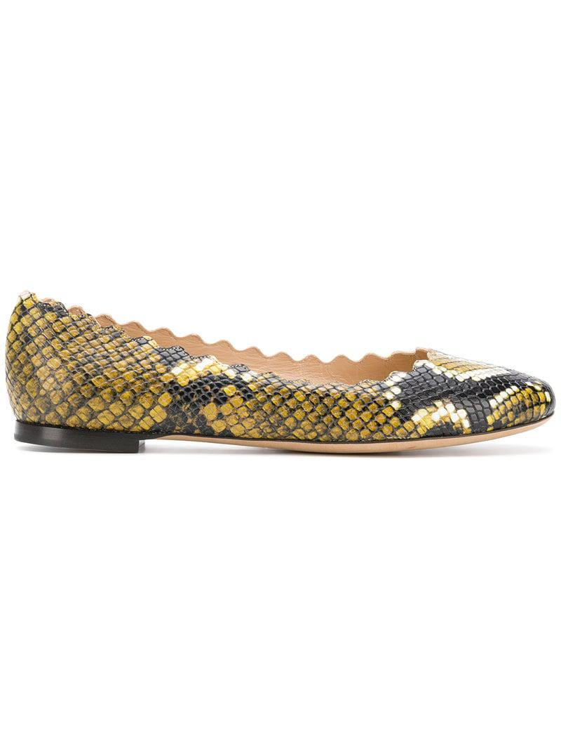 29bddab08 Chloé Lauren Ballerina Shoes in Yellow - Lyst