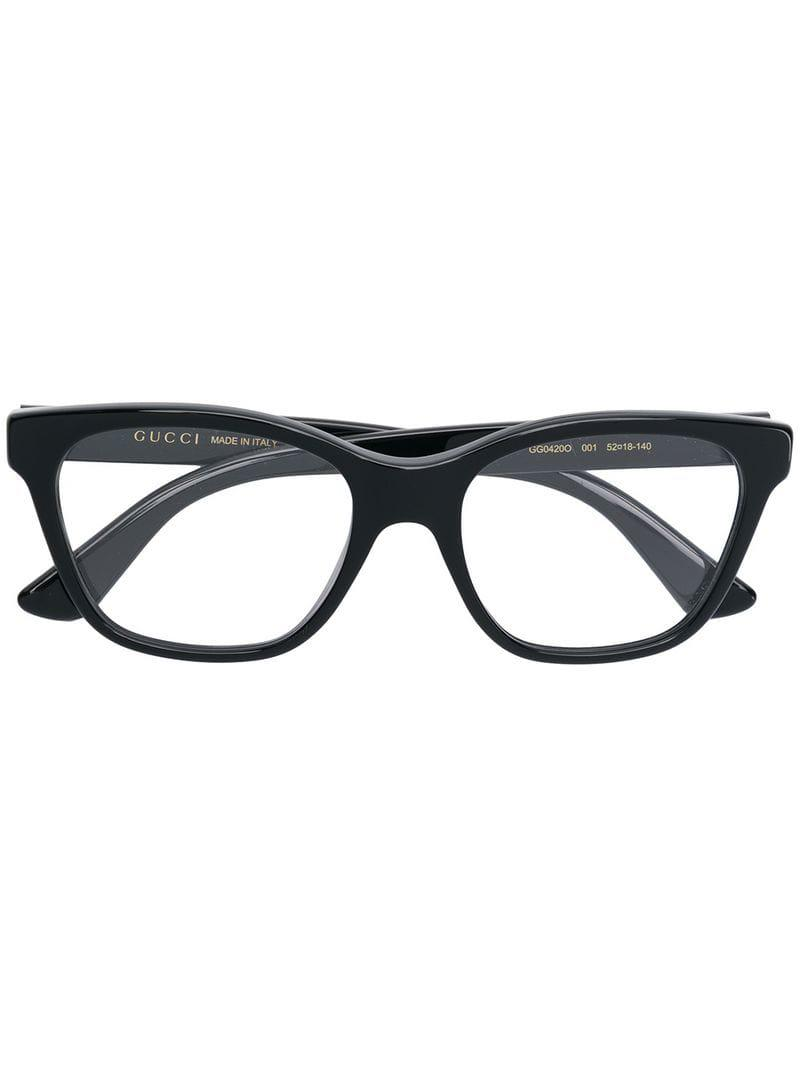 950867b6f51 Lyst - Gucci Crystal Embellished Glasses in Black