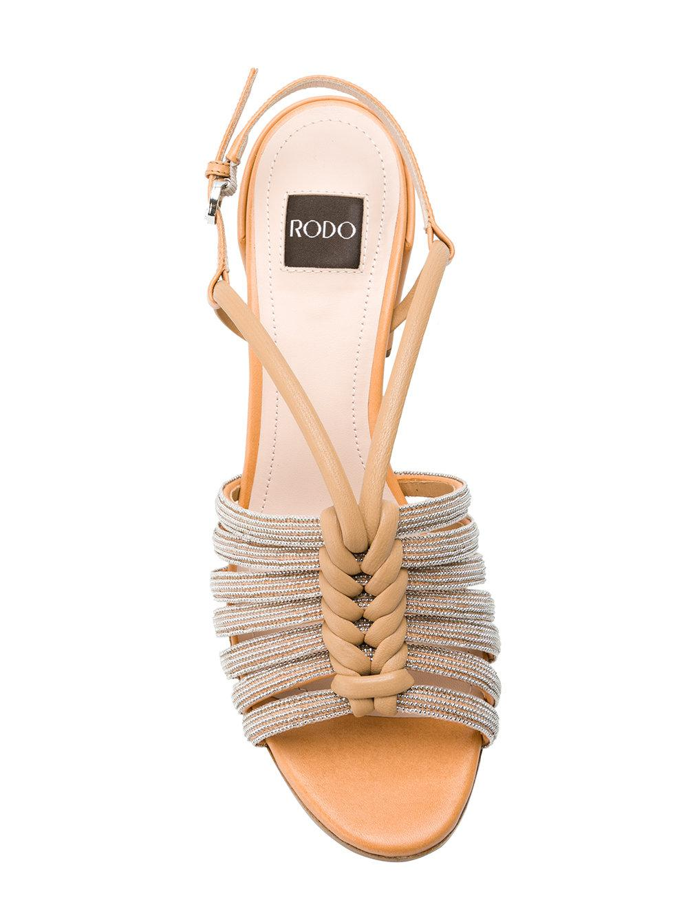 Free Shipping Hot Sale Inexpensive For Sale RODO Strappy block heel sandals jSzUq