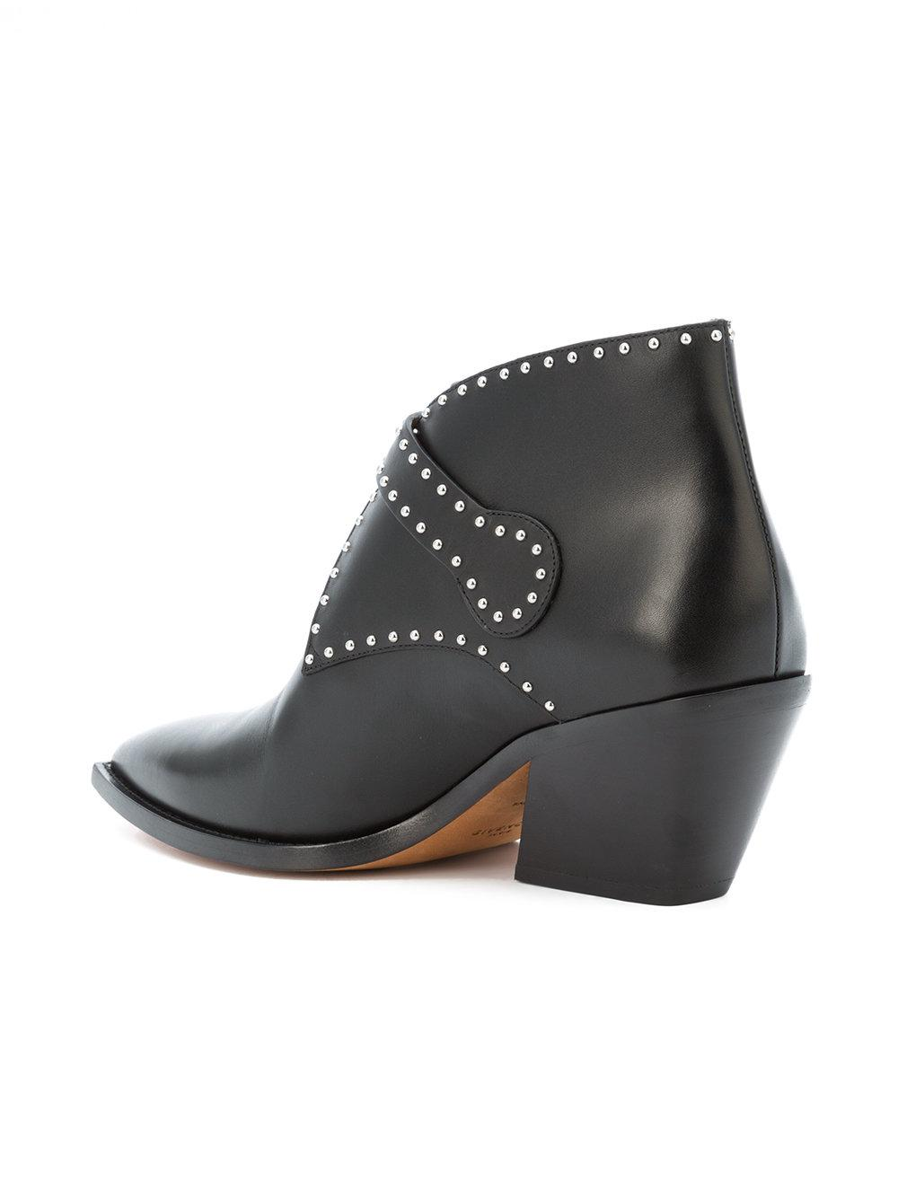 53a515328594 Lyst - Givenchy Black Elegant 60 Studded Leather Ankle Boots in Black -  Save 53%