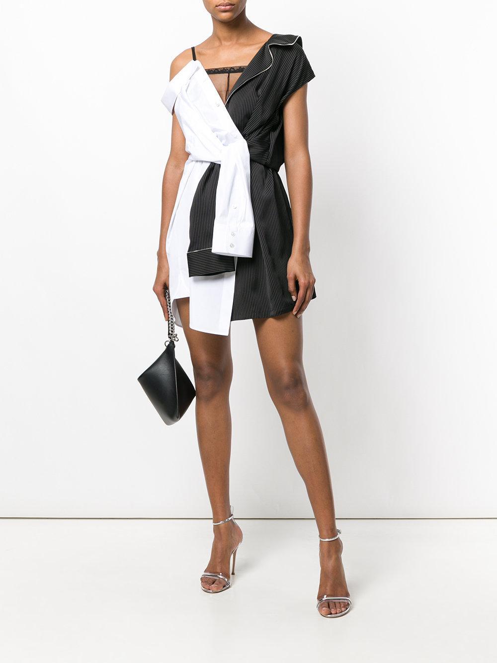 1698a805fd Alexander Wang Hybrid Shirt Dress in Black - Lyst