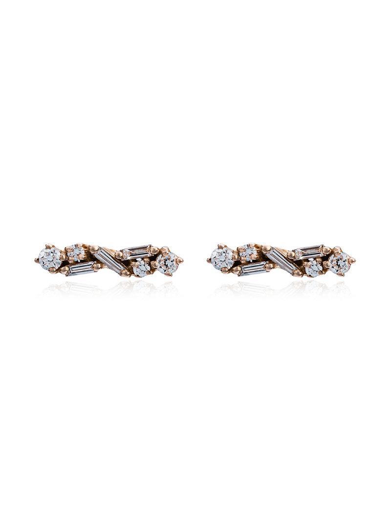 Suzanne Kalan diamond post earrings - Pink & Purple 6tHEZkBAzl