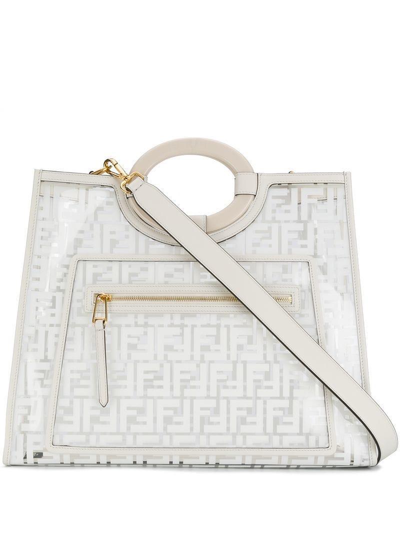 7400e33e170c Fendi Runaway Shopper Bag in White - Save 6% - Lyst