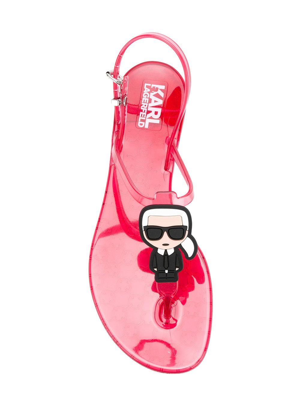 Lagerfeld Jelly Karl And Lyst Cat Sandals Pink In Rx66Fqwd5