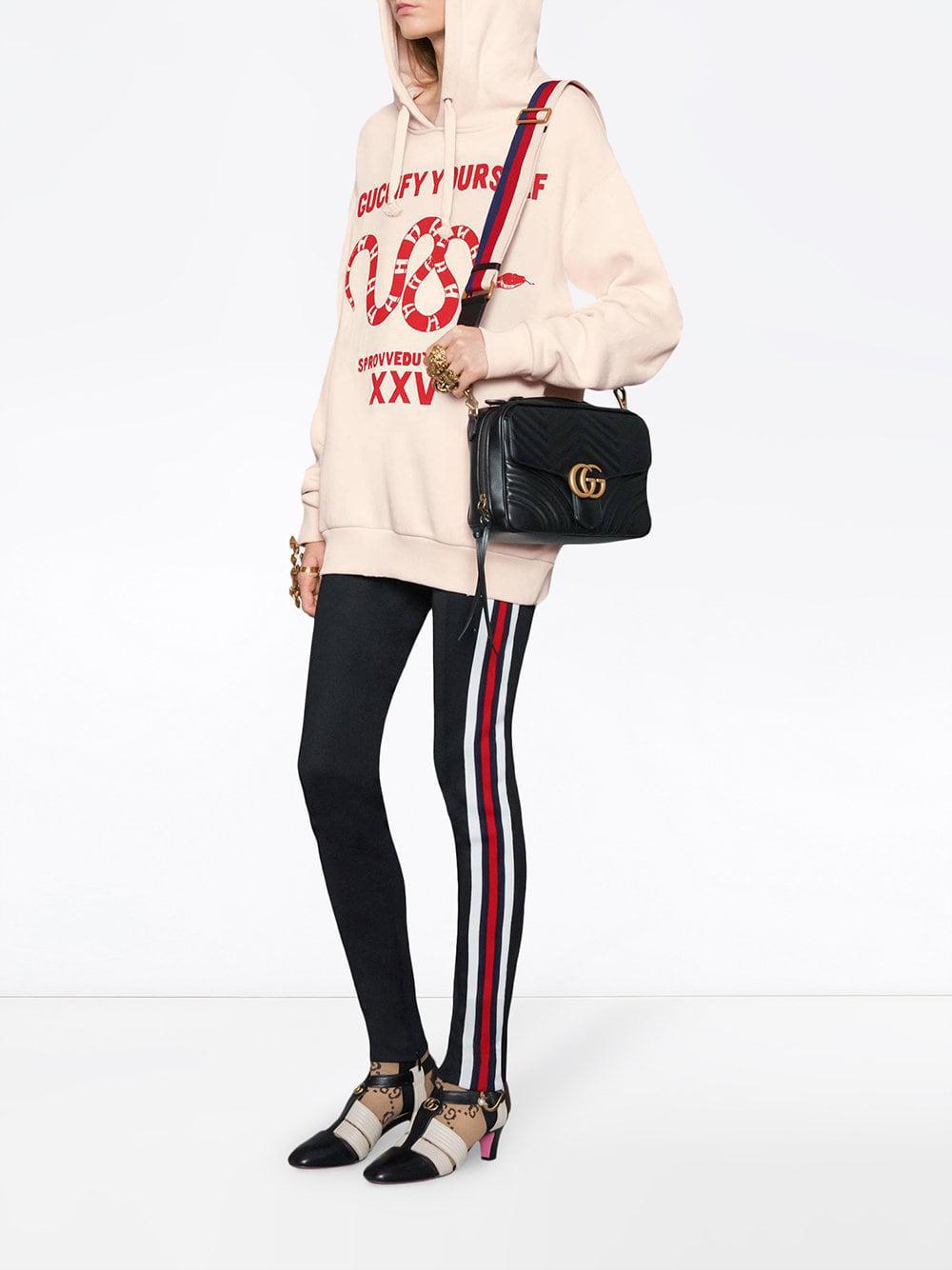 eb4532e2b9d Gucci - Black GG Marmont Matelassé Shoulder Bag - Lyst. View fullscreen